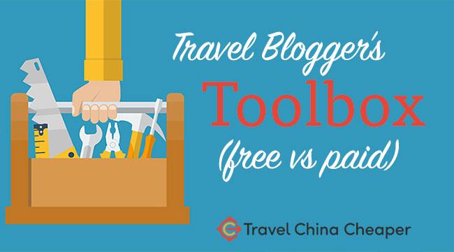 Travel blogger tool kit