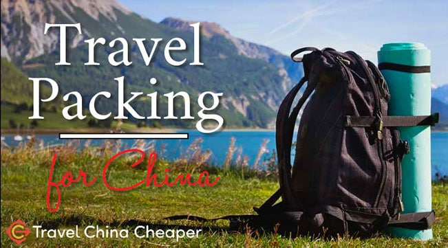 Travel packing checklist for China
