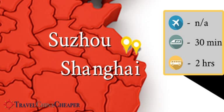 How to travel between Shanghai and Suzhou.