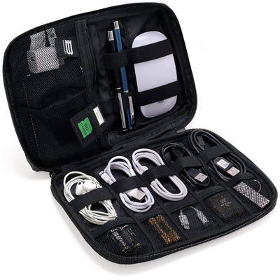 A travel cord organizer is an excellent gift idea for travelers