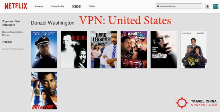 Netflix options using a VPN server in the US