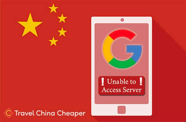 """Message saying """"Unable to Access Server"""" when trying to access Google in China"""
