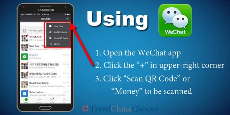 Using WeChat pay to pay for things in China