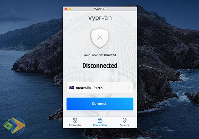 VyprVPN Desktop app screenshot