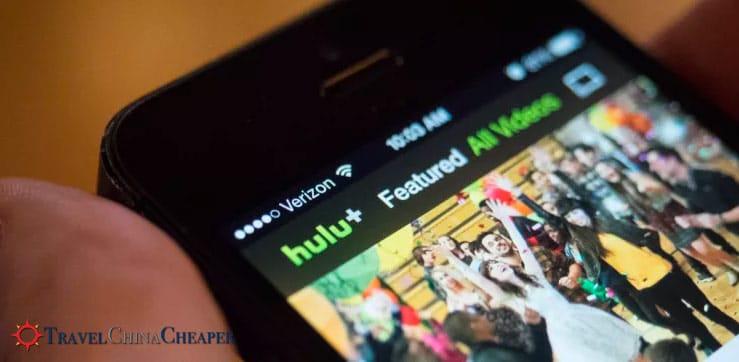 Streaming movies on Hulu in China