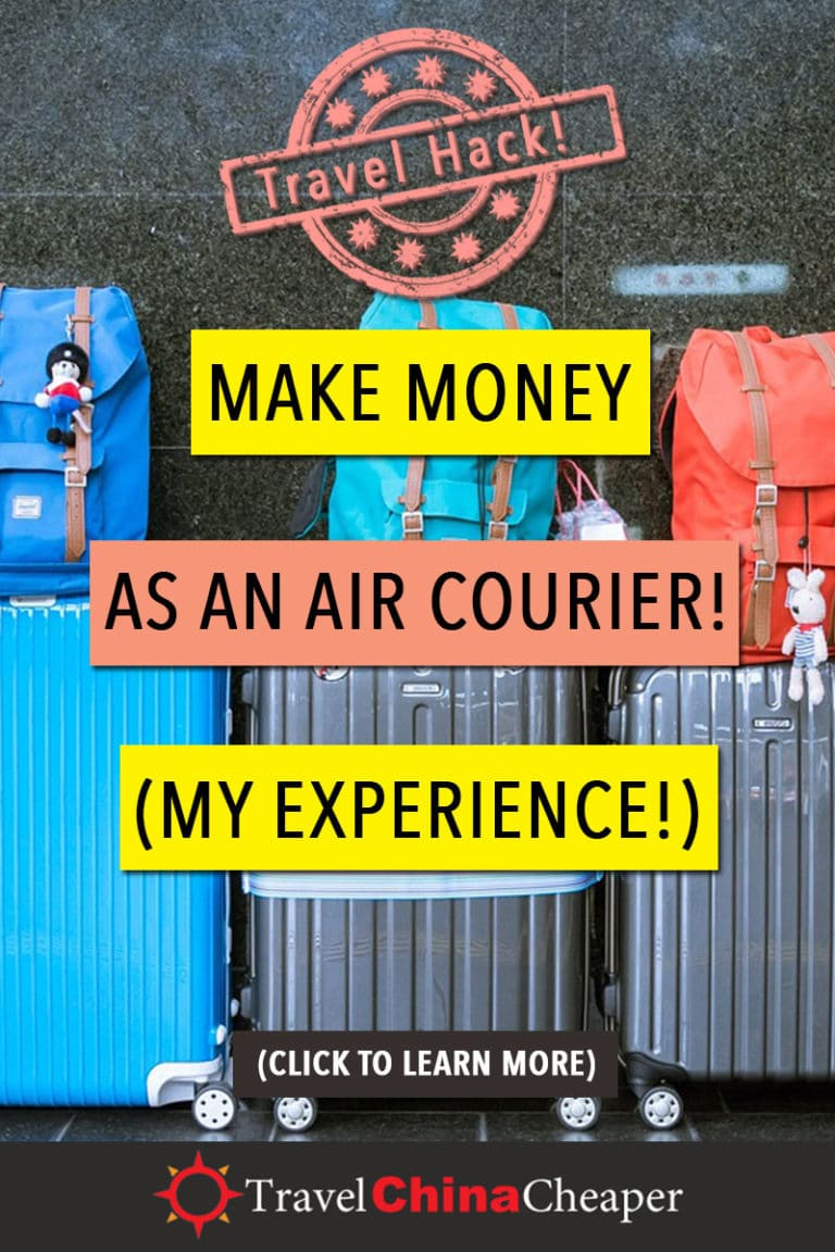 Traveling as an air courier has become my new favorite travel hack for 2018. It's quick, it's easy and it takes advantage of the one thing I rarely use: both of my checked bags on an international flight. There are a number of great ways to save money on China flights, but this is one of the best. Click to learn more! #TravelHacks #AirMule #AirCourier