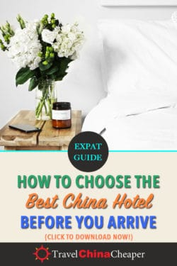 Pin this image about finding a good China hotel online with Pinterest!
