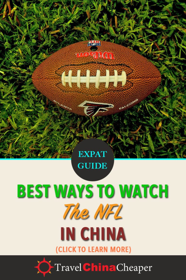 There are plenty of ways to watch NFL in China or anywhere in the world. This guide will show you how. Click to learn more! | Travel China Cheaper | China Travel Guide | Watch the NFL in China | Watch American Football in China | Watch American Sports in China | Expat in China | China Travel Blogger | Asia Travel Guide #China #chinatravel #travelChina #expatinchina #chinaexpat