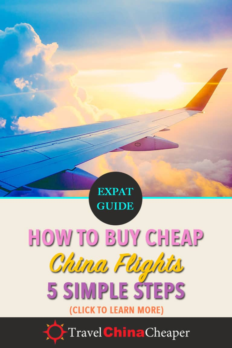 Looking for cheap China flights? This guide provides you with a 5-step process to make sure you're getting the best deal. Click to learn more! | Travel China Cheaper | China Travel Guide | Buy Cheap China Flights | Expat in China | China Travel Blogger | Asia Travel Guide #China #chinatravel #travelChina