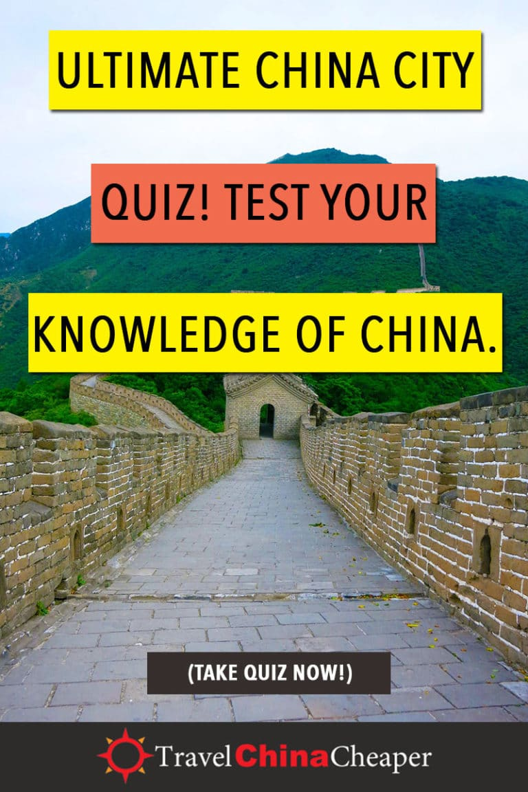 Take a few minutes and challenge yourself with this Ultimate China Cities Quiz to see how much geography, history and general trivia you know (or can guess) about China's major cities. When you're done, share it on social media to let me know how you did! Click to take the quiz now! | Travel China Cheaper | China Travel Guide | Asia Travel Guide | China Quiz | Test Your knowledge of China Cities |#China #ChinaTravelGuide #chinaquiz