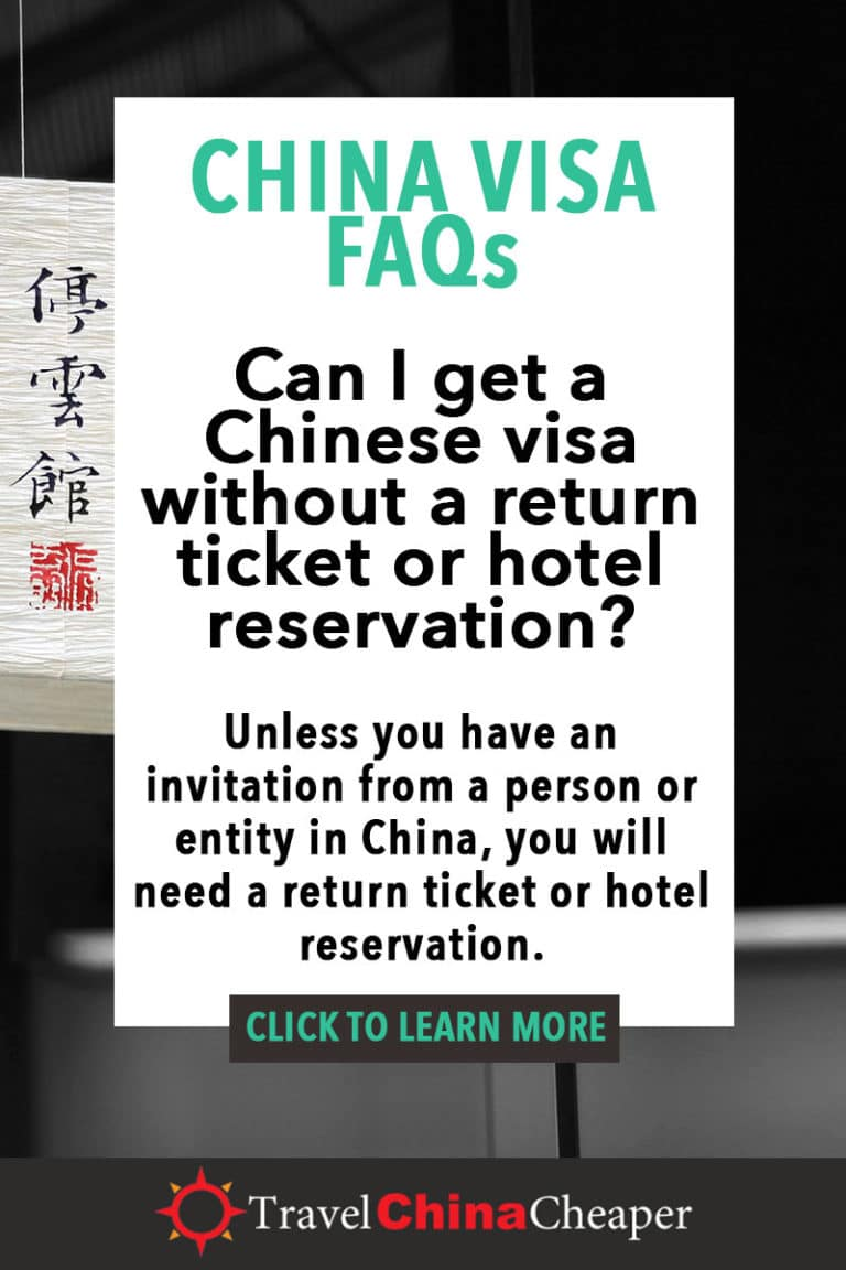 Unless you have an invitation letter from a tourist group, company, educational institution, or person within China, you need to fulfill the Chinese regulation thatrequires showing a return ticket and hotel reservation for your China visa application. Click to learn more! Travel China Cheaper | China Travel Guide | Asia Travel Guide | China Visa Requirements |#China #ChinaTravelGuide #ChinaVisa