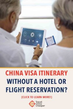 Save this article about China visa itinerary on Pinterest