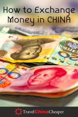 How to exchange money in China - save this on Pinterest!