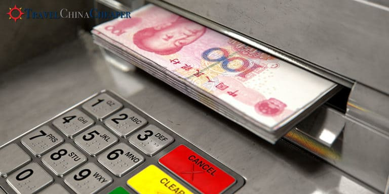 Use an ATM to exchange money in China