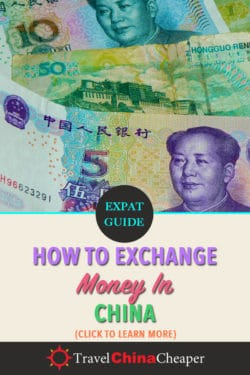 Save this article on how to exchange money in China on Pinterst