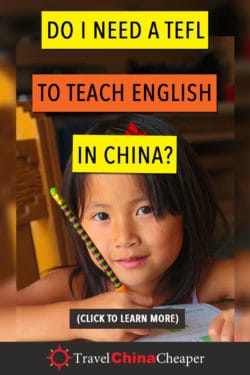 Do you need a TEFL to teach English in China?