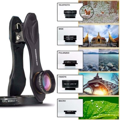 Universal camera lens kit for phones, a great gift for travelers
