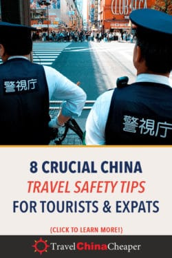 Pin this image about China safety tips