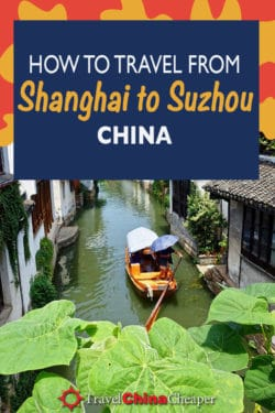 Save this image about going from Shanghai to Suzhou by train on Pinterest