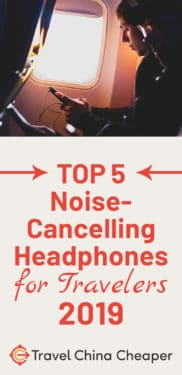 Click to save this top 5 best noise cancelling headphones for travelers on Pinterest