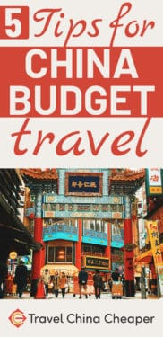 Save this article about China budget travel tips
