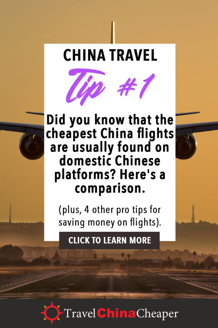 Did you know that the cheapest China flights are usually found on domestic Chinese platforms? Here's a comparison. Click to learn more! | China Travel Guide | How to Buy Cheap China Flights | 5 Simple Steps | Expat in China | China Travel Blogger | Asia Travel Guide #China #chinatravel #travelChina #expatinchina #chinaexpat