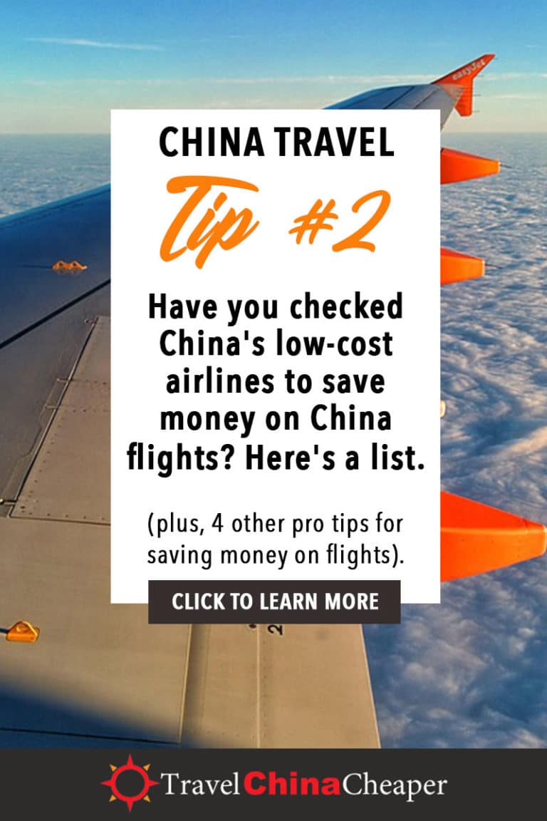 Have you checked China's low-cost airlines to save money on China flights? Here's a list. Click to learn more! | China Travel Guide | How to Buy Cheap China Flights | 5 Simple Steps | Expat in China | China Travel Blogger | Asia Travel Guide #China #chinatravel #travelChina #expatinchina #chinaexpat