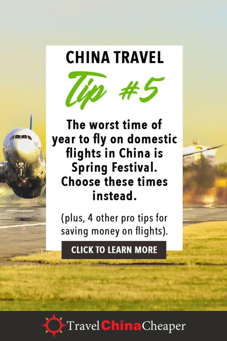The worst time of year to fly on domestic flights in China is Spring Festival or Chinese New Year. Choose these times instead... Click to learn more! | China Travel Guide | How to Buy Cheap China Flights | 5 Simple Steps | Expat in China | China Travel Blogger | Asia Travel Guide #China #chinatravel #travelChina #expatinchina #chinaexpat