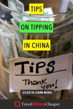 Save this article about tipping in China on Pinterest!