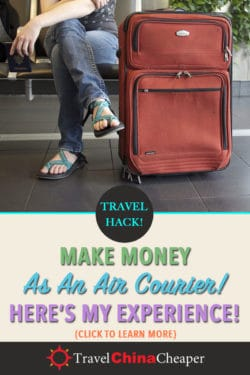 Save this article about being an air courier with Airmule on Pinterest