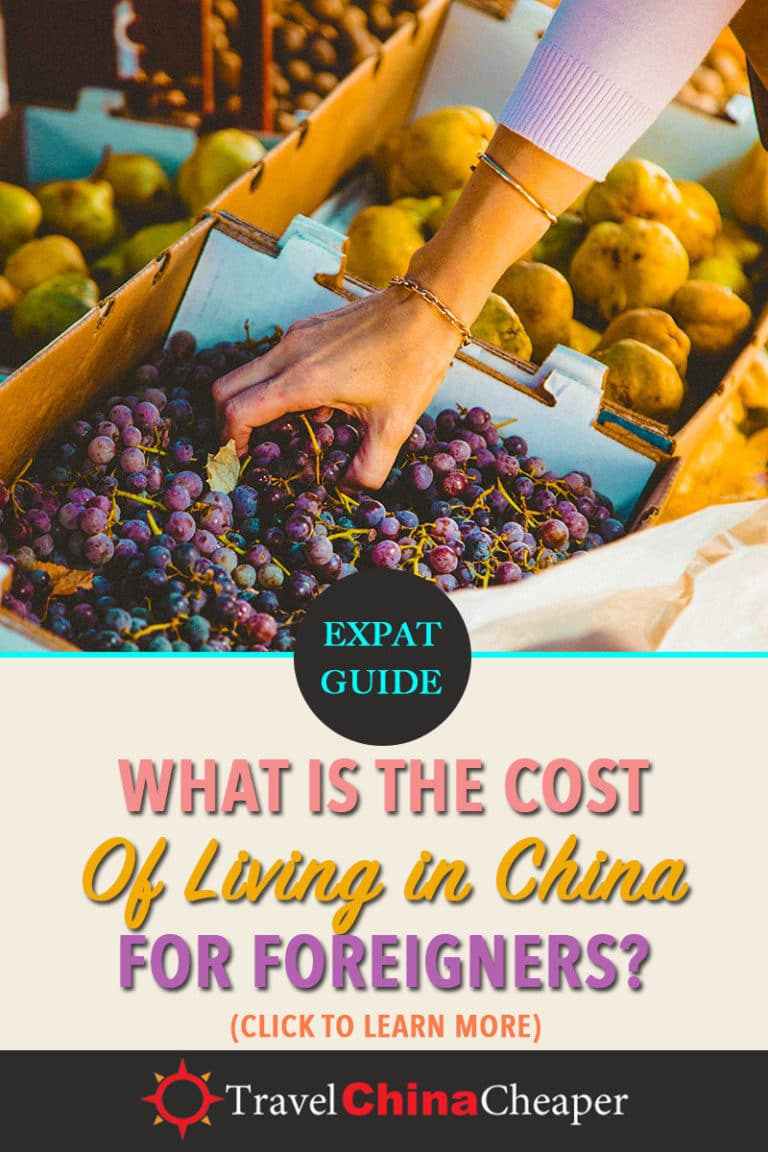 Wondering about the cost of living in China? This guide provides an overview of the cost of living for the major urban centers in China as well as a couple second-tier cities. Click to learn more!  | Travel China Cheaper | China Travel Guide | Cost of Living in China | Expat in China | China Travel Blogger | Asia Travel Guide #China #chinatravel #travelChina #expatinchina #chinaexpat